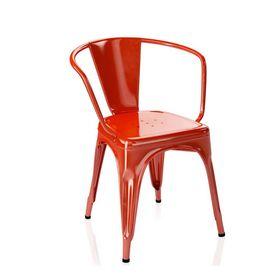 Ghế cafe tolix có tay màu đỏ