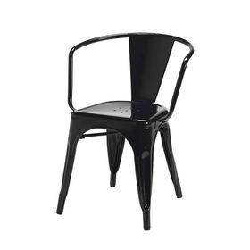 Ghế cafe tolix có tay màu đen