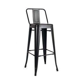 Ghế cafe tolix cao màu đen