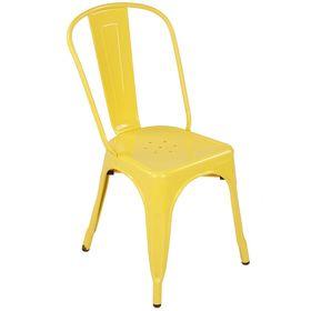 Ghế cafe tolix thấp màu vàng