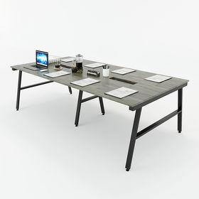 SFAC010 - Bàn họp gỗ cao su hệ 3 chân sắt chữ A