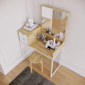 Bàn trang điểm gỗ cao su 2 hộc kéo trên bàn SFBTD013