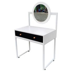 Bàn trang điểm gỗ cao su sơn trắng có gương - SFBTD010