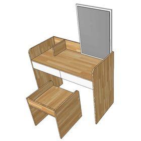 Bộ bàn trang điểm gỗ cao su SFBTD008