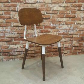 Ghế cafe gỗ sồi có tựa lưng