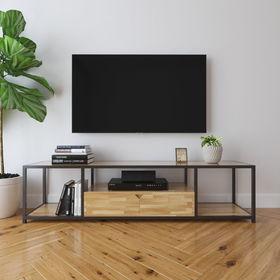 Kệ Tivi khung sắt gỗ cao su 2 hộc kéo - SFKTV003