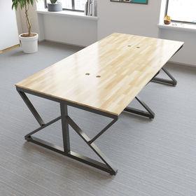 SFKC006 - Bàn cụm 4 chỗ ngồi gỗ cao su chân sắt chữ K