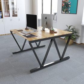 SFVC005 - Bàn cum 2 chỗ ngồi gỗ cao su chân sắt chữ V
