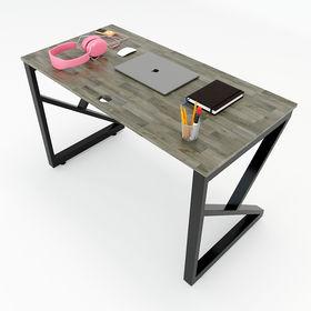 SFKC001- Bàn làm việc đơn giản gỗ cao su chân sắt chữ K