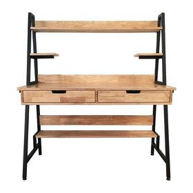 SFBK010 - Bàn làm việc kết hợp kệ có hộc kéo gỗ cao su khung sắt
