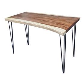 SFMT014 - Bàn gỗ Me Tây 60x120cm dày 5cm chân sắt Hairpin
