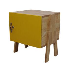 SFTDG003- Tủ đầu giường Mini gỗ cao su 1 cánh VÀNG chân chữ A