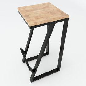 SFBR003- Ghế Bar chân sắt hình thang không tựa lưng