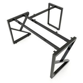 SFAC105 - Chân bàn góc L sắt hộp lắp ráp chữ A