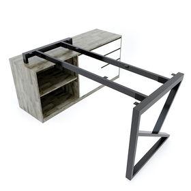 SFKC106 - Chân bàn giám đốc gác tủ sắt hộp lắp ráp chữ K