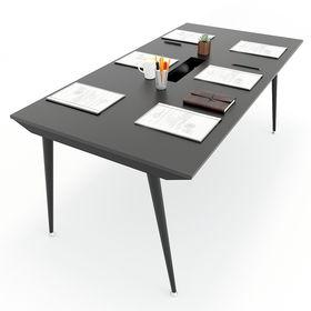 SFCN009 - Bàn họp văn phòng nhỏ gỗ cao su chân sắt Côn