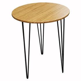 SFBCF002- Bàn Cafe tròn 60cm gỗ TRE ÉP chân Hairpin