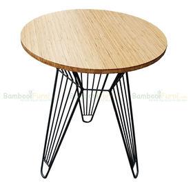 SFBCF005- Bàn Cafe gỗ TRE ÉP tròn 60cm chân sắt Lap