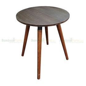 SFBCF007 - Bàn cafe gỗ TRE Ép tròn 60cm chân gỗ