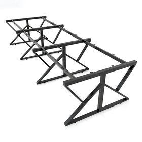 SFKC123 - Chân bàn cụm 6 chỗ sắt 25x50 lắp ráp chữ K