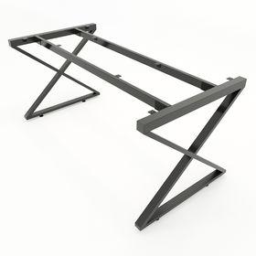 SFXC103 - Chân bàn họp nhỏ sắt 25x50 lắp ráp chữ X
