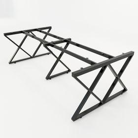 SFXC104 - Chân bàn họp lớn sắt 25x50 lắp ráp chữ X