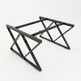 SFXC120 - Chân bàn cụm 2 chỗ sắt 25x50 lắp ráp chữ X