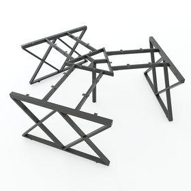 SFXC121 - Chân bàn cụm 3 chỗ sắt 25x50 lắp ráp chữ X