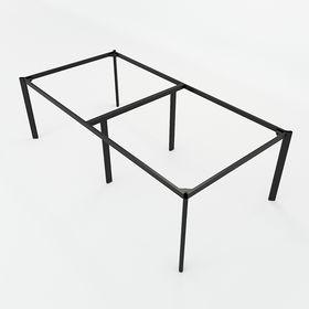 SFOV122 - Chân bàn cụm 4 chỗ sắt Oval lắp ráp