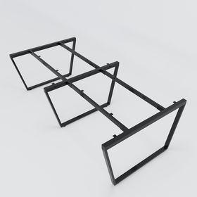SFMC122 - Chân bàn cụm 4 chỗ sắt 25x50 lắp ráp chữ M