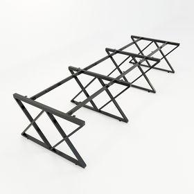 SFXC123 - Chân bàn cụm 6 chỗ sắt 25x50 lắp ráp chữ X