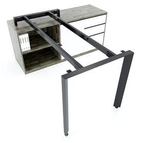SFTA106 - Chân bàn giám đốc gác tủ sắt tam giác lắp ráp