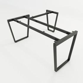 SFTC105 - Chân bàn góc L sắt hộp lắp ráp hình thang cân