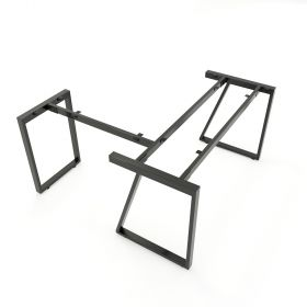 SFTV105 - Chân bàn góc L sắt hộp lắp ráp hình thang vuông