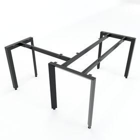 SFTA105 - Chân bàn làm việc góc L sắt tam giác lắp ráp