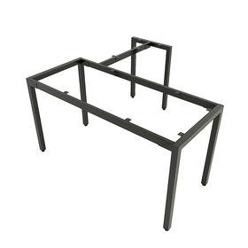 SFUC105 - Chân bàn làm việc góc L sắt hộp lắp ráp chữ U