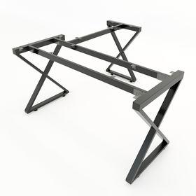 SFAT105 - Chân bàn góc L sắt hộp lắp ráp chữ A mẫu 2