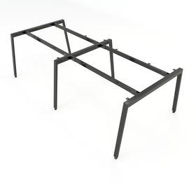 SFAT122 - Chân bàn cụm 4 chỗ sắt 25x50 lắp ráp chữ A mẫu 2