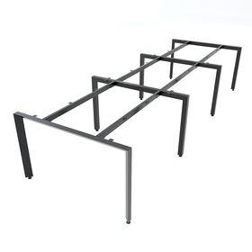 SFTA123 - Chân bàn làm việc cụm 6 chỗ sắt tam giác lắp ráp