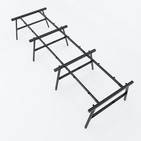 SFAC123 - Chân bàn cụm 6 chỗ sắt 25x50 lắp ráp chữ A