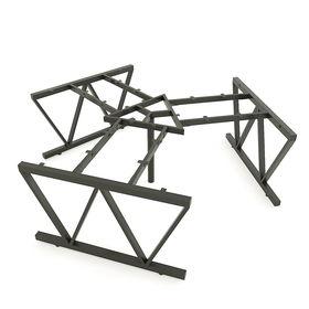 SFVC121 - Chân bàn cụm 3 chỗ sắt 25x50 lắp ráp chữ V