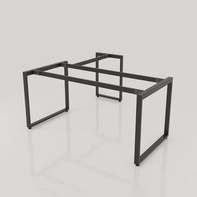 SFRT105 - Chân bàn góc L sắt hộp lắp ráp hình chữ nhật