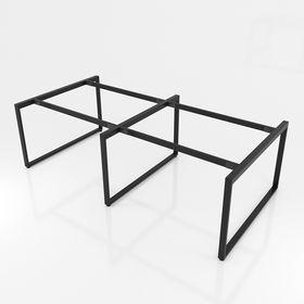 SFTV122 - Chân bàn cụm 4 chỗ sắt 25x50 lắp ráp hình thang vuông