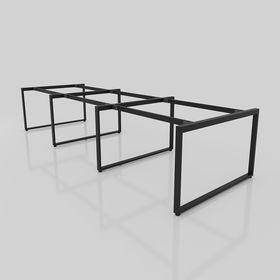 SFRT123 - Chân bàn cụm 6 chỗ sắt 25x50 lắp ráp hình chữ nhật