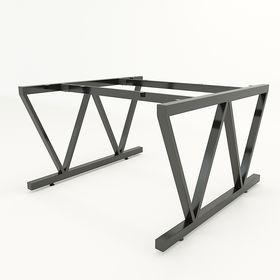 SFVC120 - Chân bàn cụm 2 chỗ sắt 25x50 lắp ráp chữ V