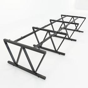 SFVC123 - Chân bàn cụm 6 chỗ sắt 25x50 lắp ráp chữ V