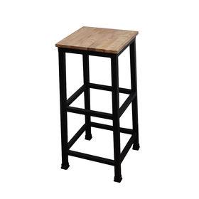 SFBR006- Ghế Bar khung sắt gỗ đơn giản không lưng