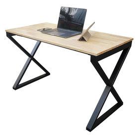SFXC001- Bàn làm việc đơn giản gỗ cao su chân sắt chữ X