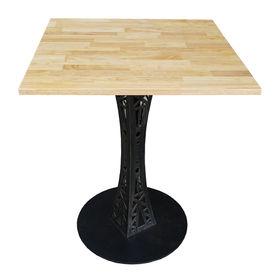 SFBCF026- Bàn cafe vuông 60cm gỗ cao su chân sắt hoa văn
