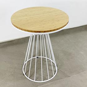 SFBCF032 - Bàn Cafe gỗ TRE tròn 60cm chân cổ lọ viền